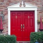 front-red-doors